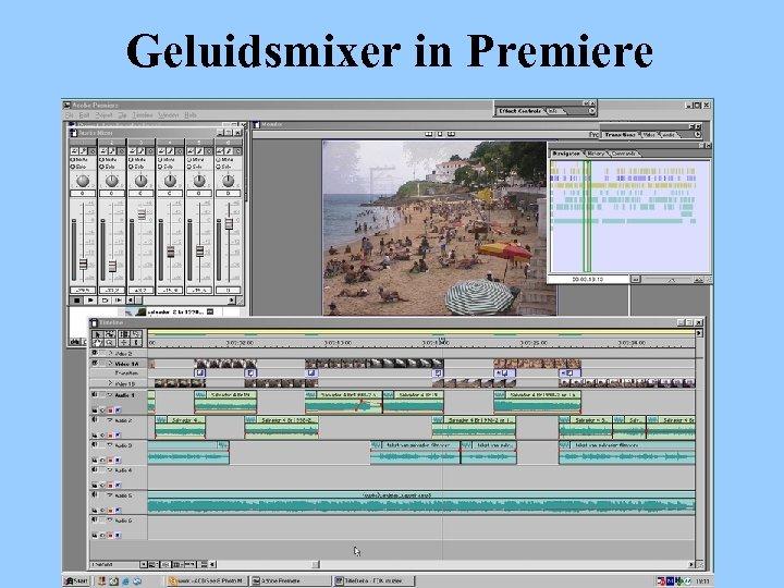 Geluidsmixer in Premiere