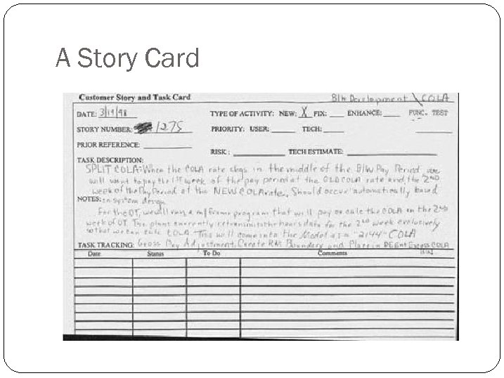 A Story Card