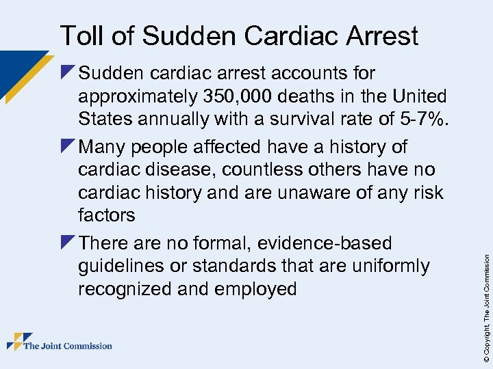 z Sudden cardiac arrest accounts for approximately 350, 000 deaths in the United States