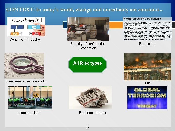 CONTEXT: In today's world, change and uncertainty are constants. . . Dynamic IT Industry
