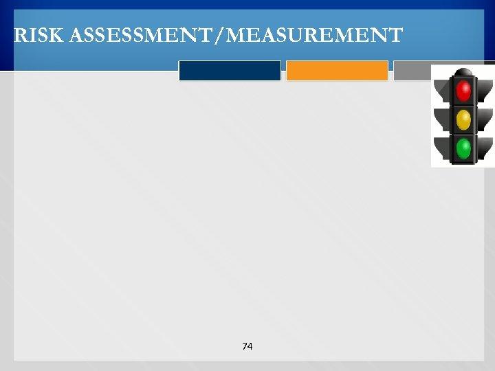 RISK ASSESSMENT/MEASUREMENT 74