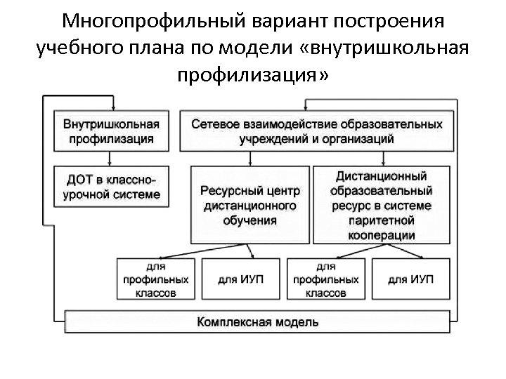 Многопрофильный вариант построения учебного плана по модели «внутришкольная профилизация»