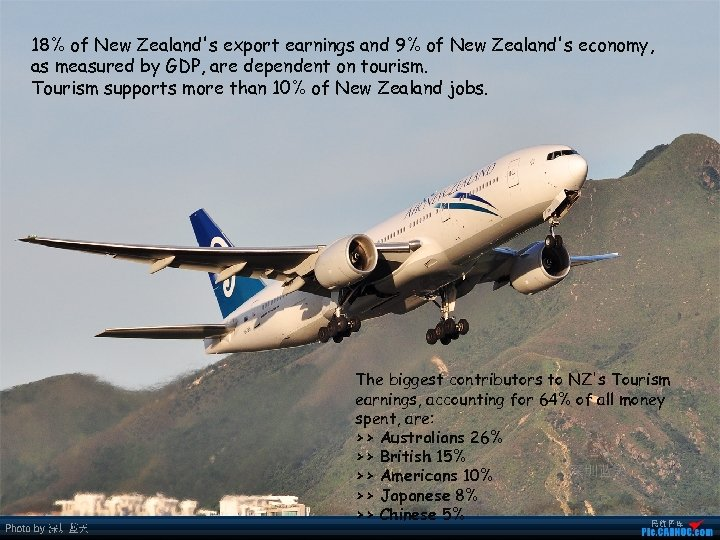 18% of New Zealand's export earnings and 9% of New Zealand's economy, as measured
