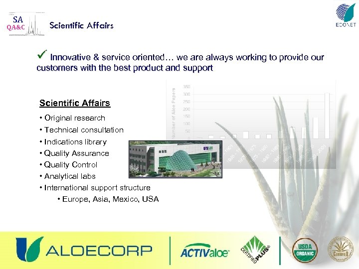 SA QA&C Scientific Affairs ü Innovative & service oriented… we are always working to