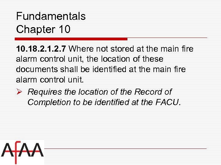 Fundamentals Chapter 10 10. 18. 2. 1. 2. 7 Where not stored at the