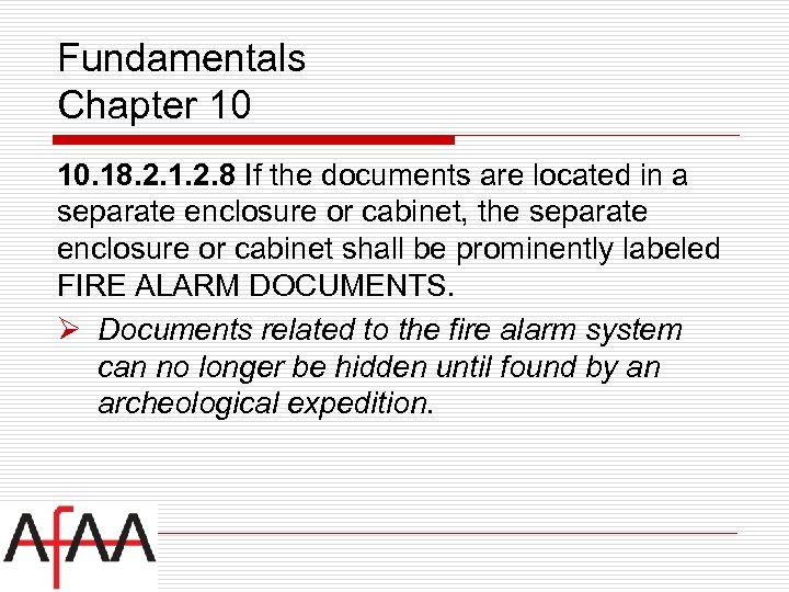 Fundamentals Chapter 10 10. 18. 2. 1. 2. 8 If the documents are located