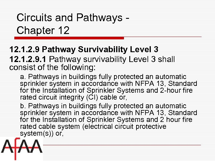 Circuits and Pathways Chapter 12 12. 1. 2. 9 Pathway Survivability Level 3 12.