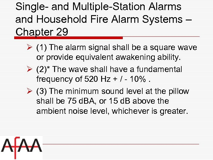 Single- and Multiple-Station Alarms and Household Fire Alarm Systems – Chapter 29 Ø (1)