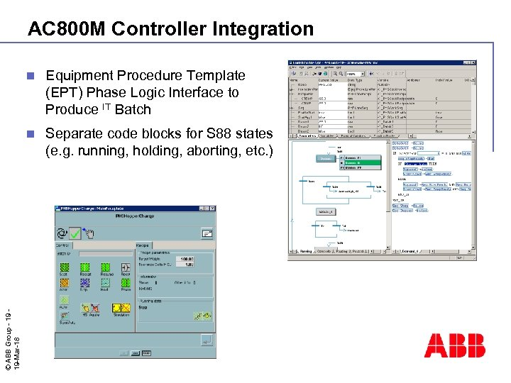 AC 800 M Controller Integration Equipment Procedure Template (EPT) Phase Logic Interface to Produce