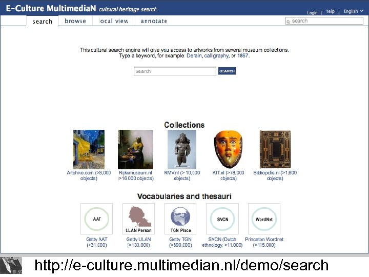 http: //e-culture. multimedian. nl/demo/search