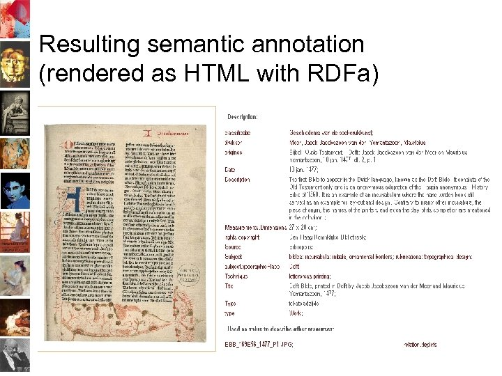 Resulting semantic annotation (rendered as HTML with RDFa)