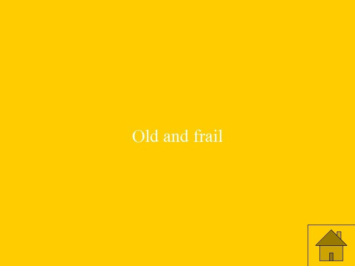 Old and frail