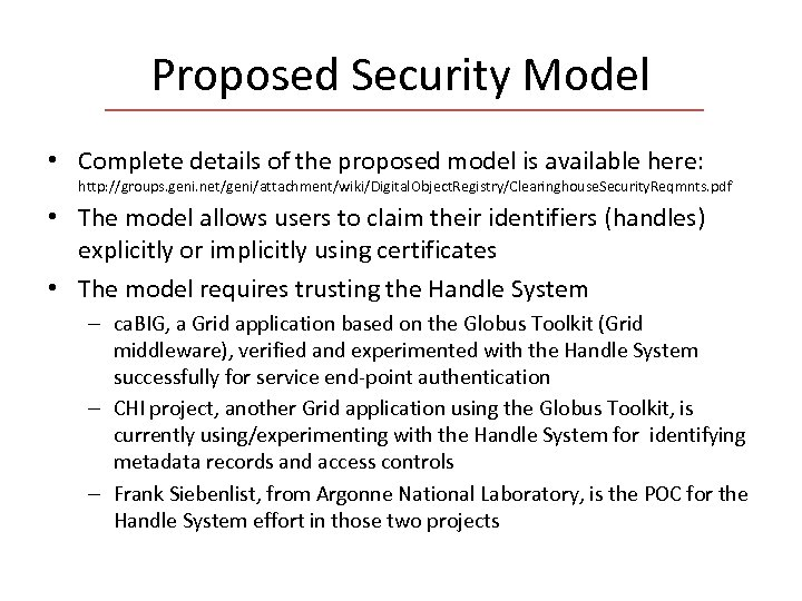 Proposed Security Model • Complete details of the proposed model is available here: http: