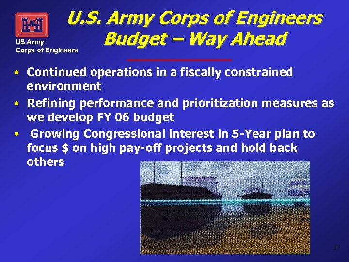 U. S. Army Corps of Engineers Budget – Way Ahead US Army Corps of