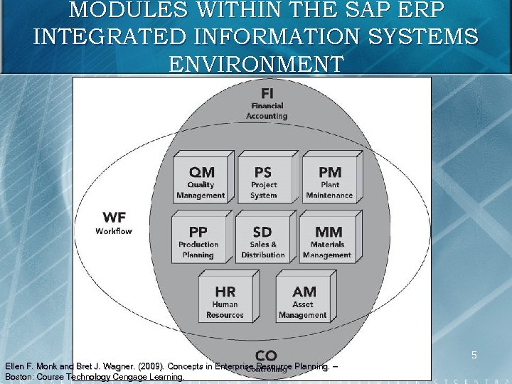 MODULES WITHIN THE SAP ERP INTEGRATED INFORMATION SYSTEMS ENVIRONMENT 5 Ellen F. Monk and