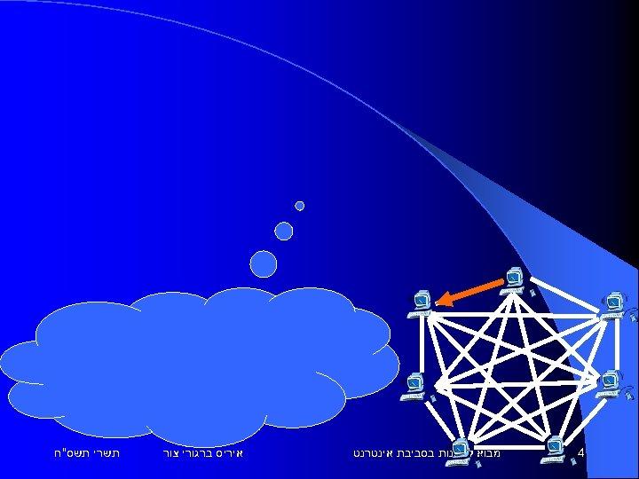 4 מבוא לתכנות בסביבת אינטרנט איריס ברגורי צור תשרי תשס