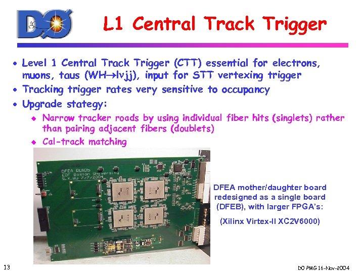 L 1 Central Track Trigger · Level 1 Central Track Trigger (CTT) essential for