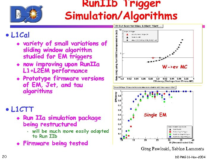 Run. IIb Trigger Simulation/Algorithms · L 1 Cal u u u variety of small