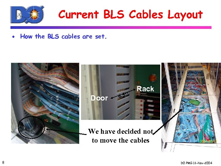 Current BLS Cables Layout · How the BLS cables are set. Door 6. 5''
