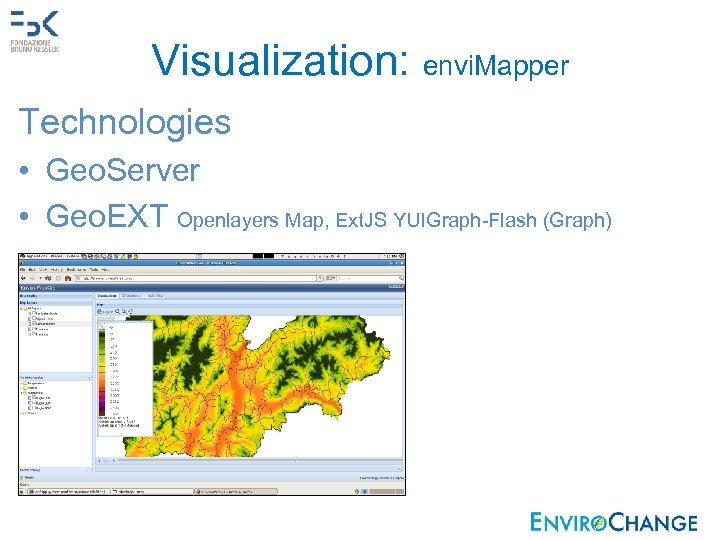Visualization: envi. Mapper Technologies • Geo. Server • Geo. EXT Openlayers Map, Ext. JS