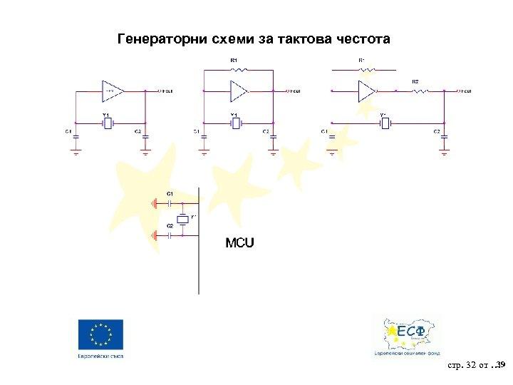 Генераторни схеми за тактова честота 39 стр. 32 от …