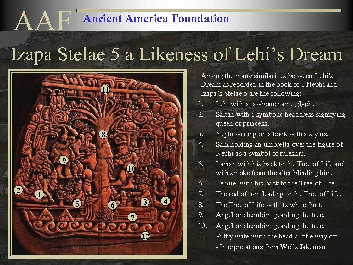 AAF Ancient America Foundation Izapa Stelae 5 a Likeness of Lehi's Dream 11 8