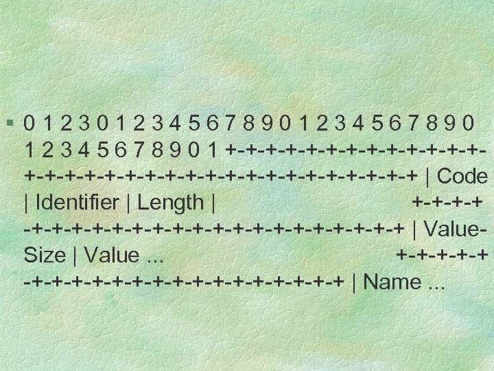 § 012345678901234567890 1 2 3 4 5 6 7 8 9 0 1 +-+-+-+-+-+-+-+-+-+-+-+-+-+-+-+-+