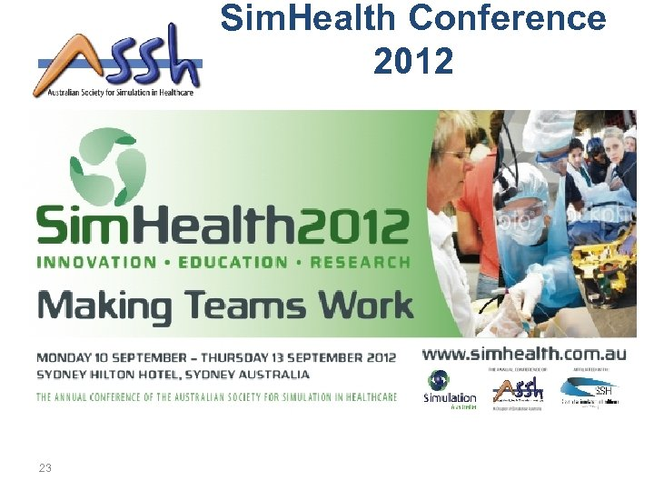 Sim. Health Conference 2012 23