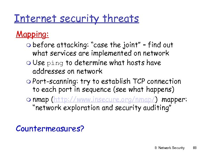 "Internet security threats Mapping: m before attacking: ""case the joint"" – find out what"