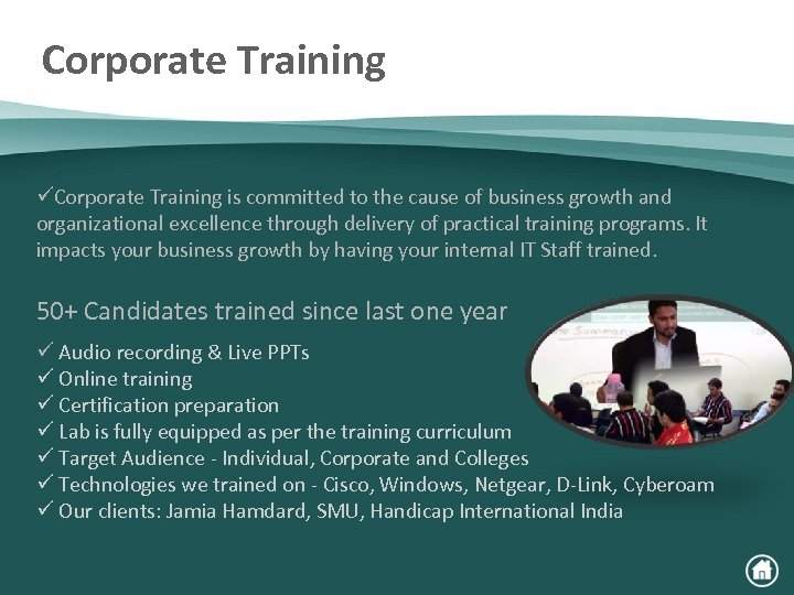 Corporate Training üCorporate Training is committed to the cause of business growth and organizational