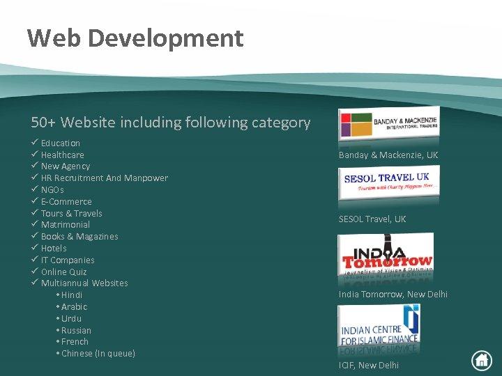 Web Development 50+ Website including following category ü Education ü Healthcare ü New Agency