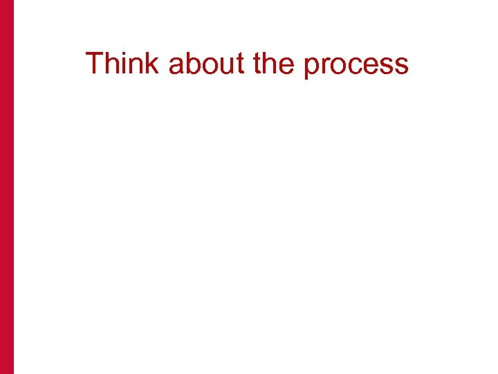 Think about the process