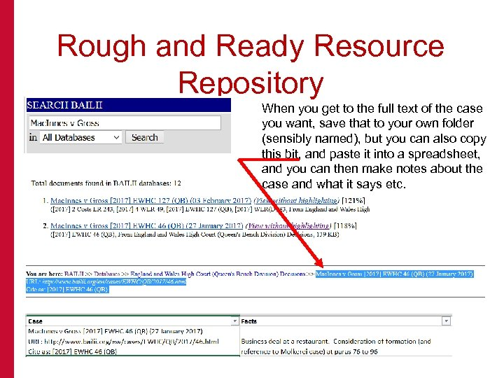 Rough and Ready Resource Repository When you get to the full text of the