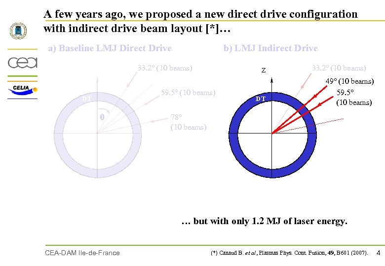 A few years ago, we proposed a new direct drive configuration with indirect drive