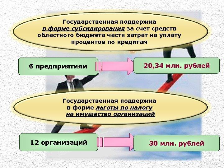 Государственная поддержка в форме субсидирования за счет средств областного бюджета части затрат на уплату