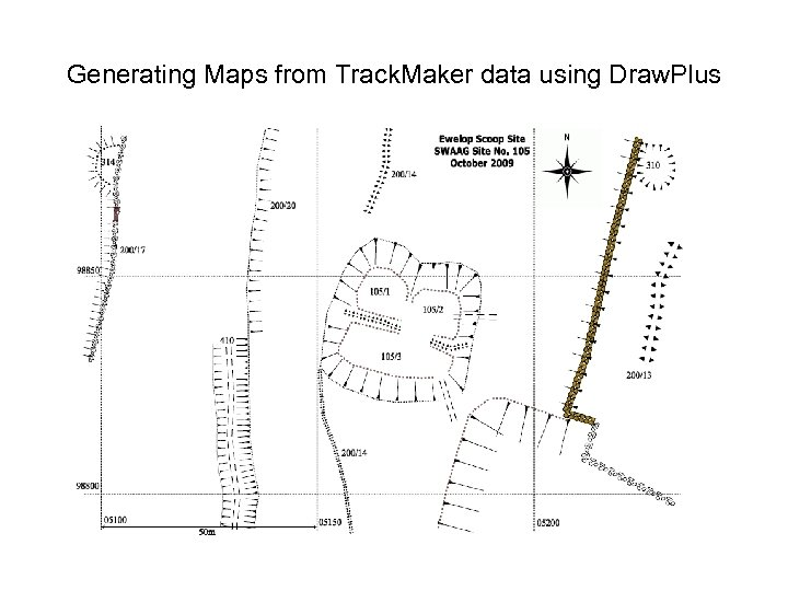 Generating Maps from Track. Maker data using Draw. Plus