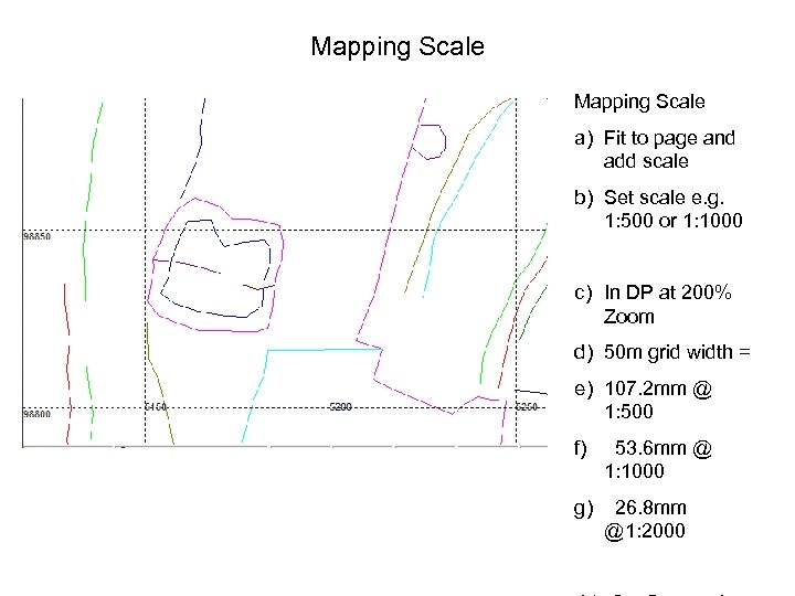 Mapping Scale a) Fit to page and add scale b) Set scale e. g.