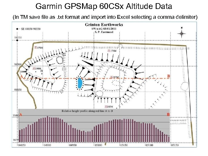 Garmin GPSMap 60 CSx Altitude Data (In TM save file as. txt format and