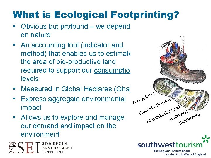 What is Ecological Footprinting? • Obvious but profound – we depend on nature •