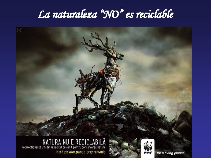 """La naturaleza """"NO"""" es reciclable"""