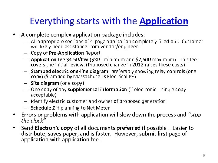 Everything starts with the Application • A complete complex application package includes: – All