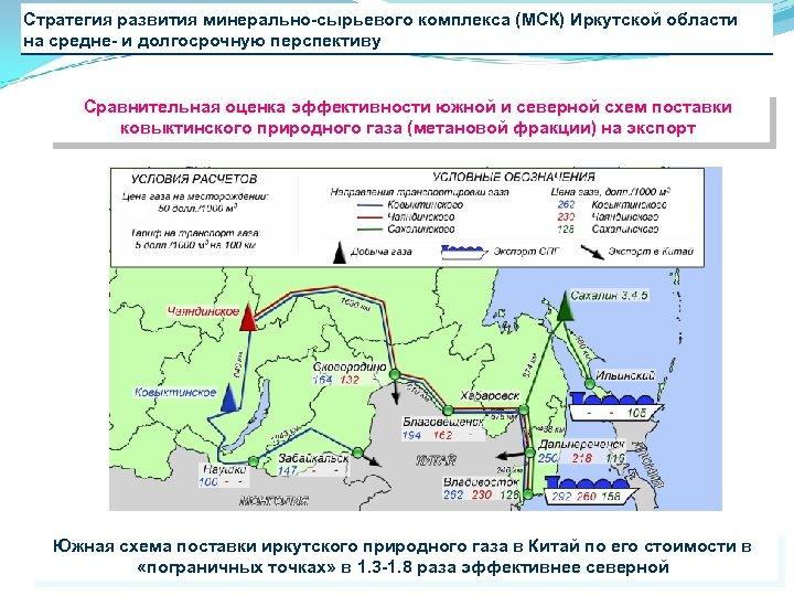 Стратегия развития минерально-сырьевого комплекса (МСК) Иркутской области на средне- и долгосрочную перспективу Сравнительная оценка