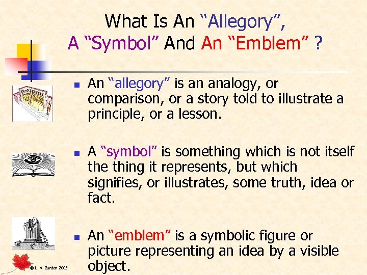 "What Is An ""Allegory"", A ""Symbol"" And An ""Emblem"" ? n n n ©"