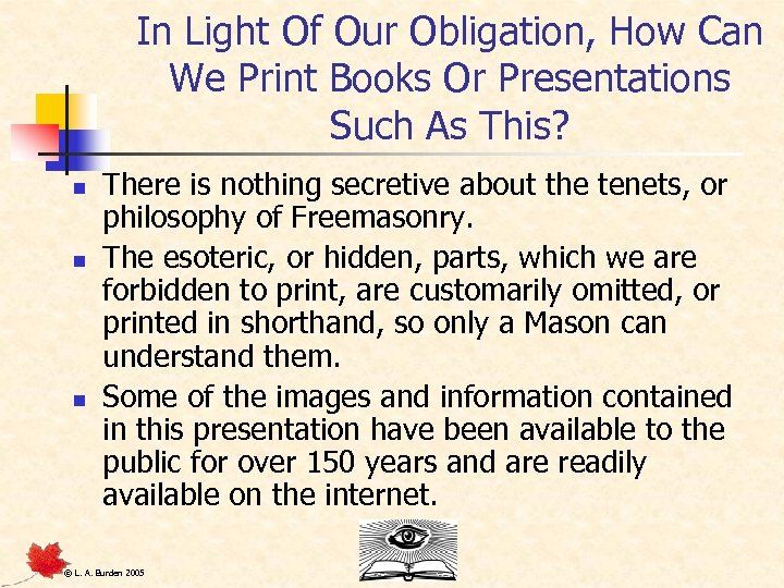 In Light Of Our Obligation, How Can We Print Books Or Presentations Such As