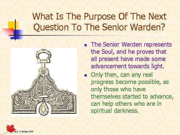 What Is The Purpose Of The Next Question To The Senior Warden? n n