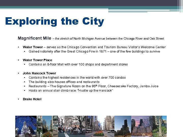 Exploring the City Magnificent Mile – the stretch of North Michigan Avenue between the
