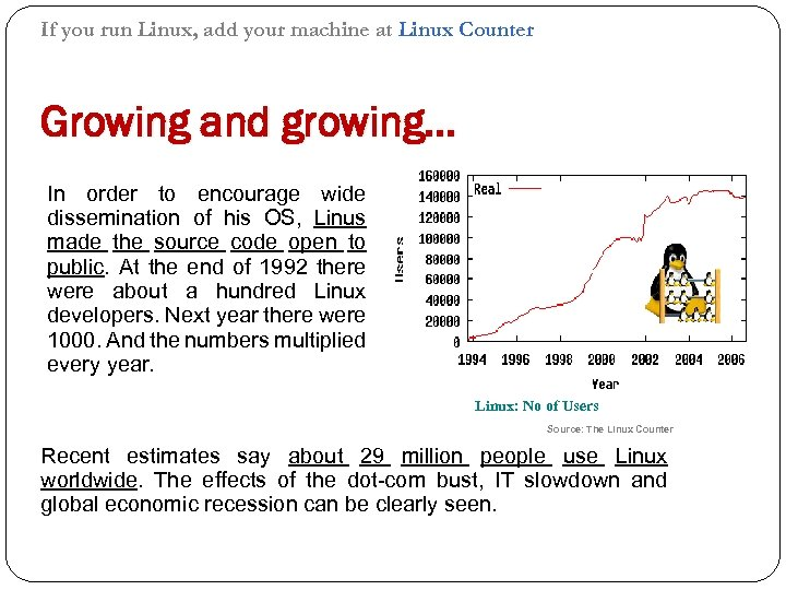 If you run Linux, add your machine at Linux Counter Growing and growing… In