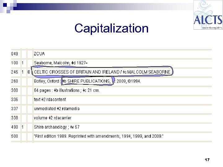 Capitalization 17