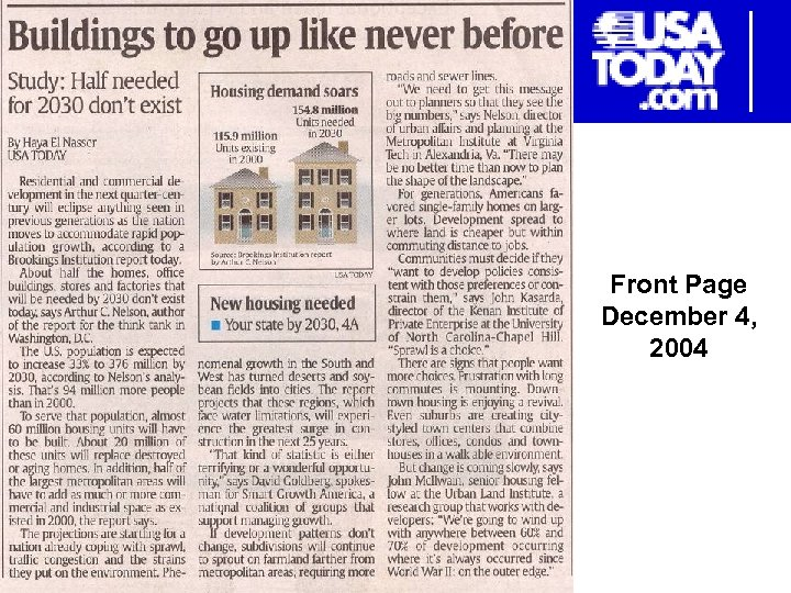 Front Page December 4, 2004
