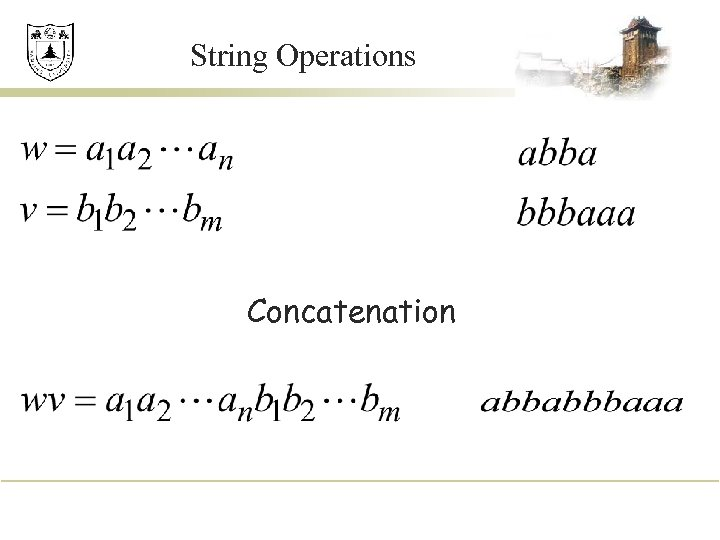 String Operations Concatenation